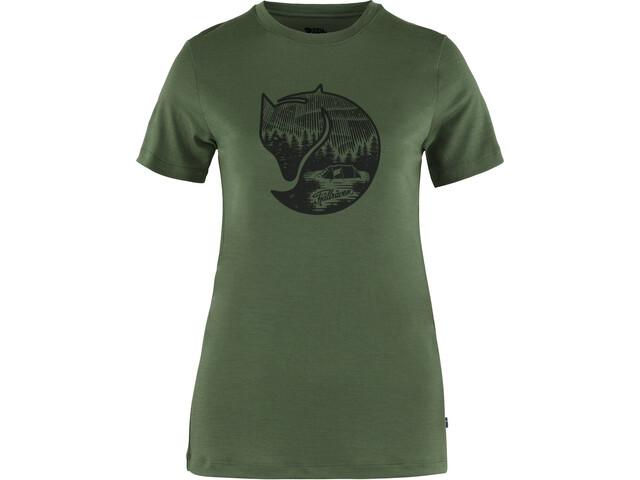 Fjällräven Abisko Fox SS Wool Top Women, spruce green